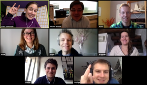 Zoom video conferencing for remote team