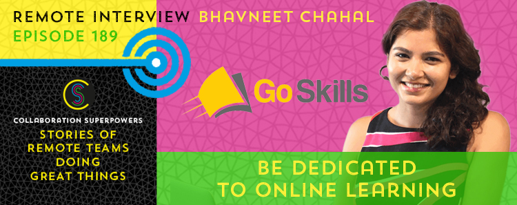 189 – Be Dedicated To Online Learning With Bhavneet Chahal